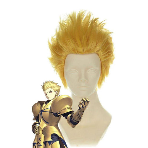 FGO Fate/Stay Night Archer Gilgamesh Blonde Short Man Cosplay Wig - Cosplay Clans