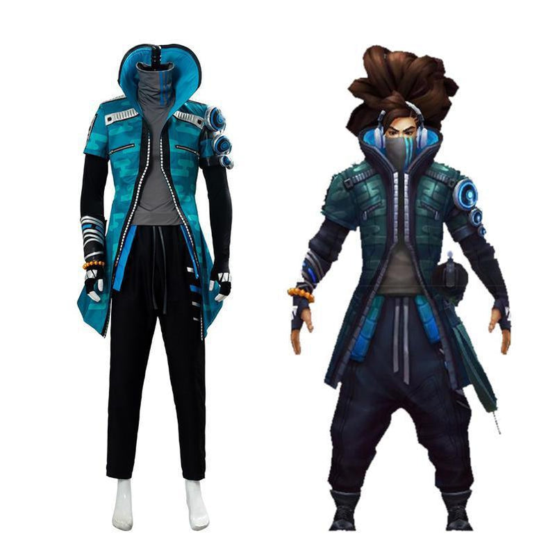 LOL True Damage Yasuo Male Full Sets Cosplay Costumes - Cosplay Clans