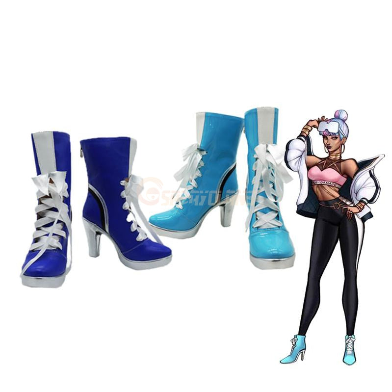 LOL True Damage Band Empress of the Elements Qiyana Cosplay Shoes - Cosplay Clans