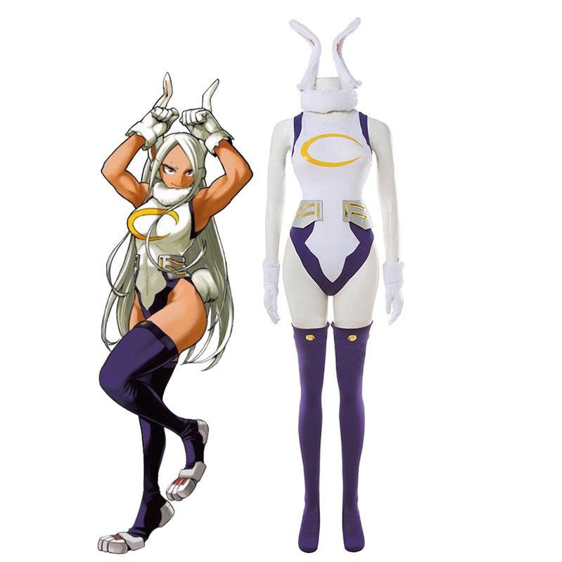 Anime My Hero Academia Miruko Bunny Girl Sexy Rabbit Jumpsuit Cosplay Costumes Boku no Hero Academia  - Cosplay Clans