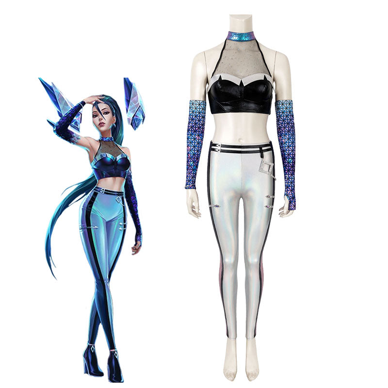 Game LOL KDA ALL OUT Kaisa Fullset Cosplay Costumes - Cosplay Clans