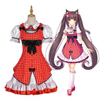 Game Nekopara Catgirl Chocola Casual Dress Cosplay Costume - Cosplay Clans