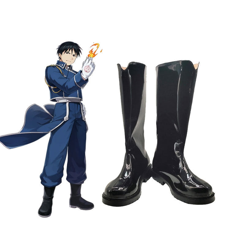 Anime Fullmetal Alchemist Maes Hughes Cosplay Shoes