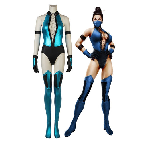 Game Mortal Kombat Kitana Outfits Cosplay Costume - Cosplay Clans