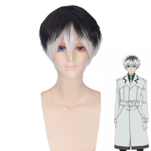 Anime Tokyo Ghoul Haise Sasaki Short Cosplay Wigs - Cosplay Clans