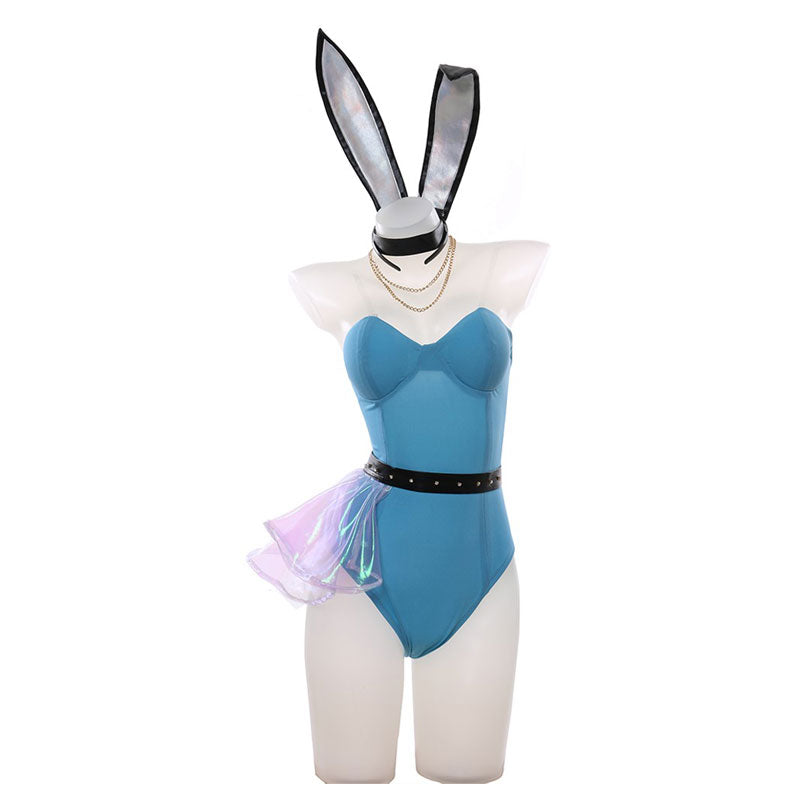LOL KDA ALL OUT Seraphine Bunnysuit Cosplay Costumes - Cosplay Clans