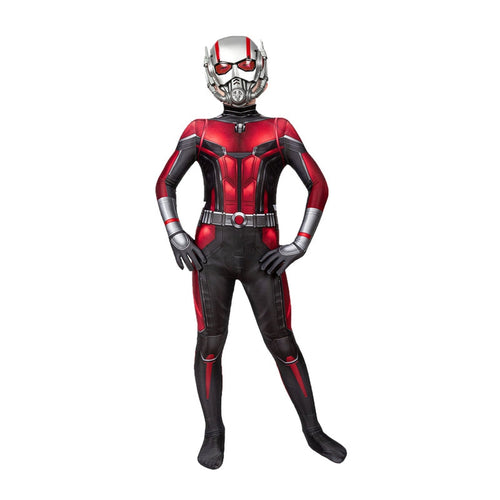 Movie Ant Man and the Wasp Ant-Man Children Jumpsuit Cosplay Costume - Cosplay Clans