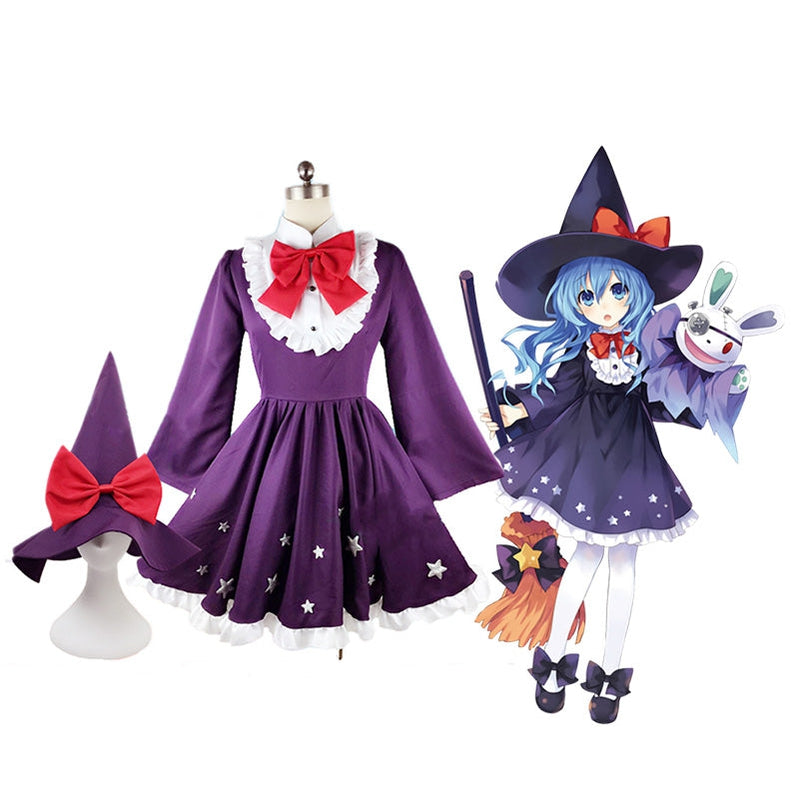 Anime Date A Live Yoshino Himekawa Halloween Witch Outfits Cosplay Costume - Cosplay Clans
