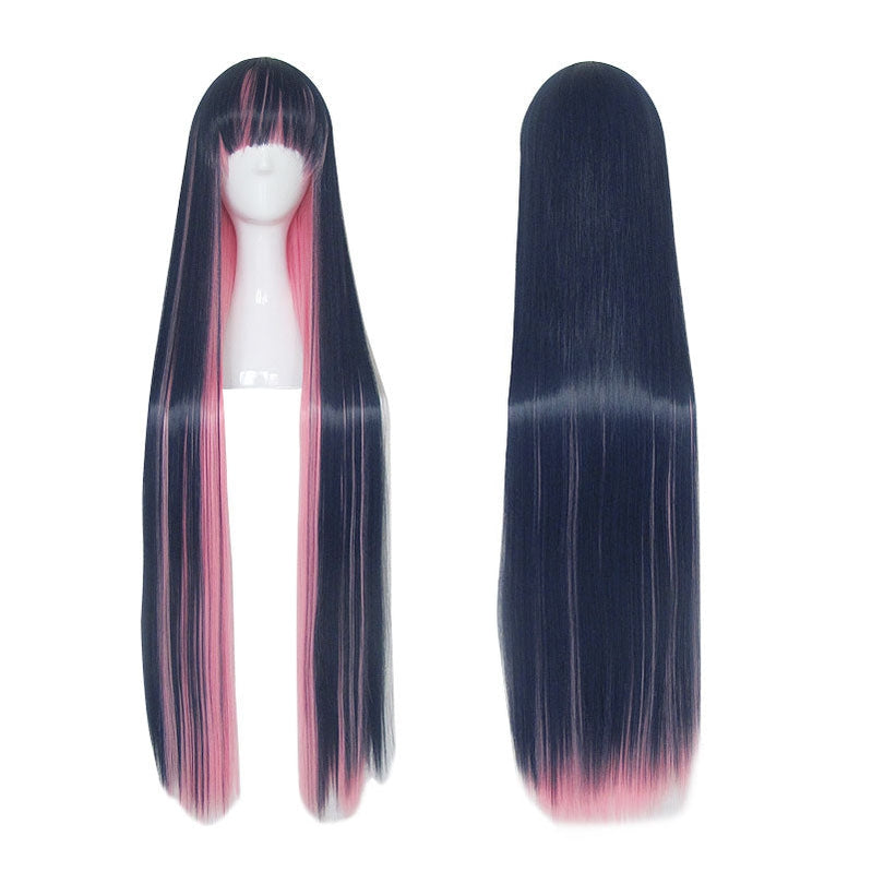 Panty & Stocking with Garterbelt Stocking Blue Mixed Red 100cm Long Straight Cosplay Wigs - Cosplay Clans