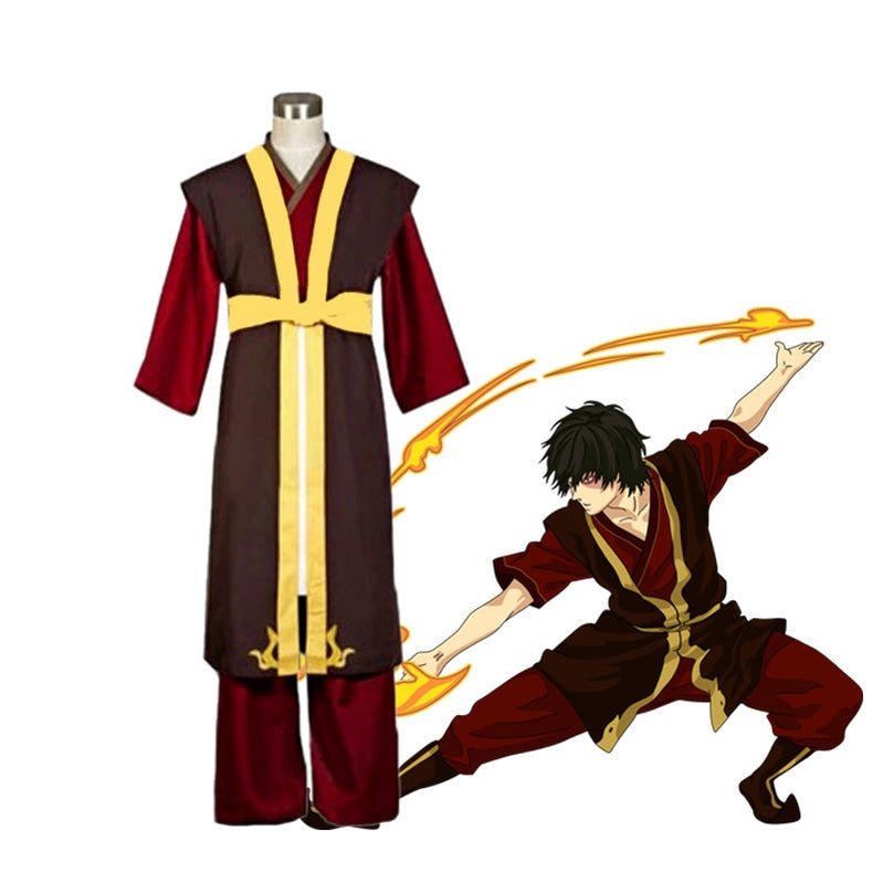 Anime Avatar: The Last Airbender Prince Zuko Outfit Cosplay Costume - Cosplay Clans