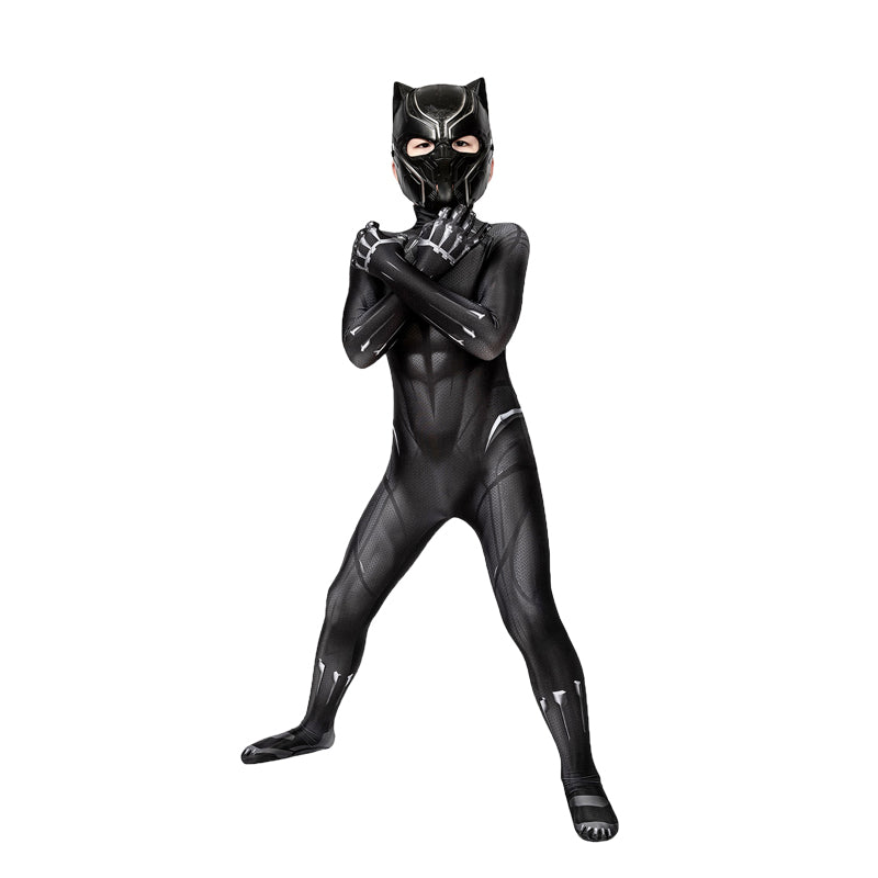 Movie Captain America Civil War Black Panther Children Jumpsuit Cosplay Costume - Cosplay Clans