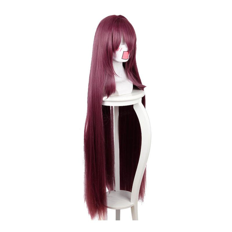 FGO Fate Grand Order Lancer Scathach Dark Purple 110cm Long Stright Cosplay Wigs - Cosplay Clans