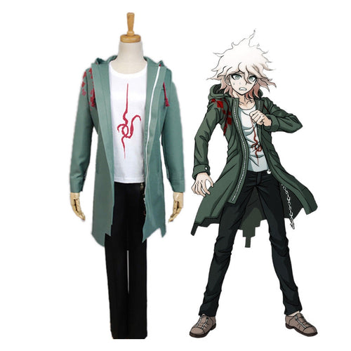 Anime Danganronpa 2: Goodbye Despair Nagito Komaeda Outfit Cosplay Costume - Cosplay Clans