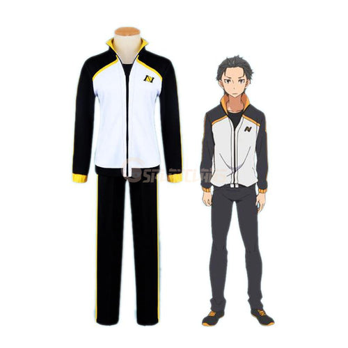Anime Re:Zero Starting Life in Another World Subaru Natsuki Sportswear Cosplay Costume - Cosplay Clans