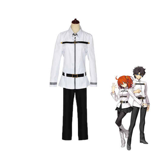 Fate Grand Order Ritsuka Fujimaru White Male Cosplay Costume