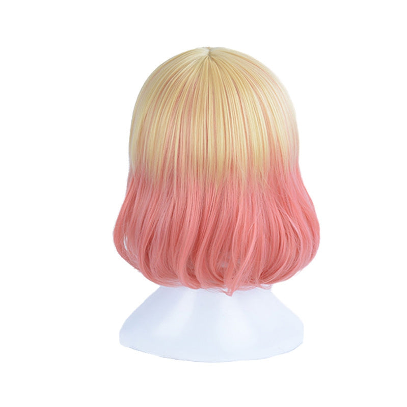 Anime Angels of Death Catherine Ward Cathy Short Blond Gradient Pink Cosplay Wigs - Cosplay Clans