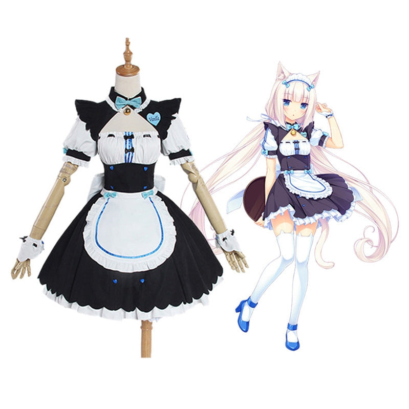 Game Nekopara Catgirl Vanilla Maid Outfit Cosplay Costume - Cosplay Clans