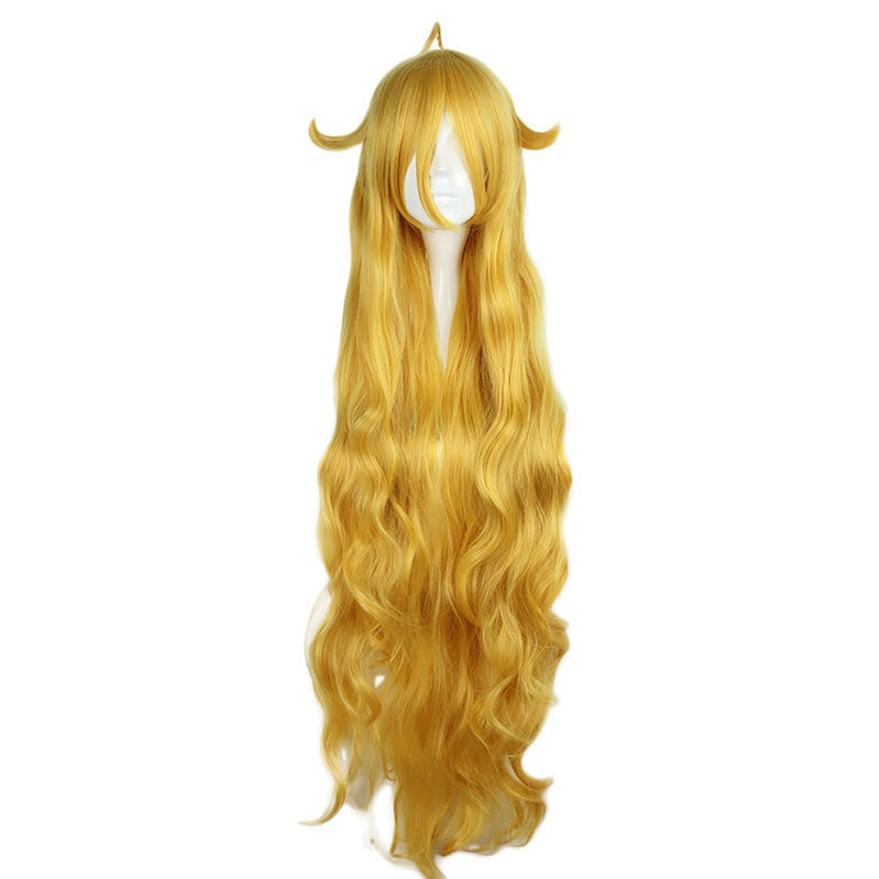 Anime Fairy Tail Mavis Vermilion Long Golden Cosplay Wigs - Cosplay Clans