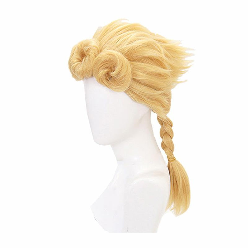 Anime JoJo's Bizarre Adventure Golden Wind Giorno Giovanna Long Blond Cosplay Wigs - Cosplay Clans