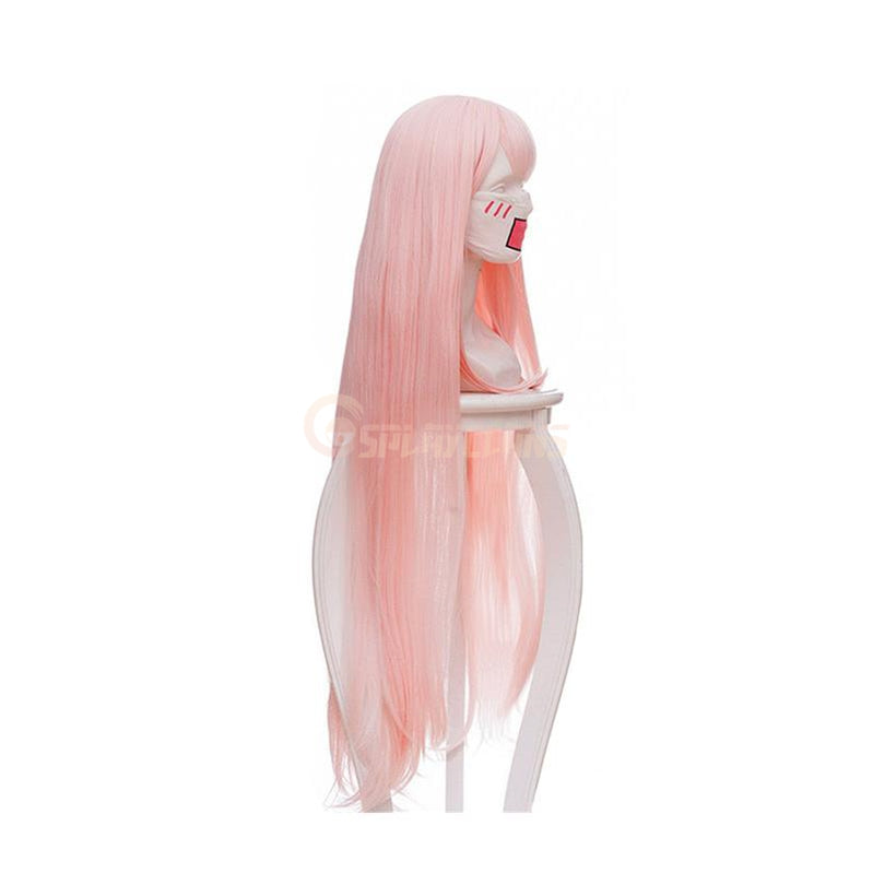 Anime DARLING in the FRANXX 02 Zero Two 100cm Long Pink Straight Cosplay Wigs - Cosplay Clans