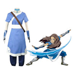 Anime Avatar: The Last Airbender Katara Blue Dress Outfit Cosplay Costume - Cosplay Clans