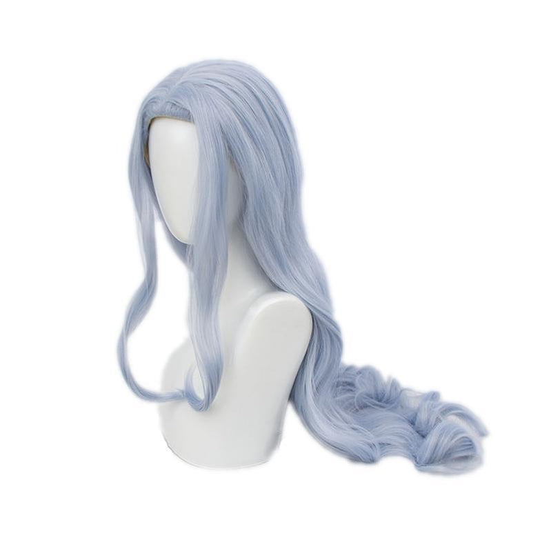 Anime My Hero Academia Eri Long Curly Light Blue Cosplay Wigs - Cosplay Clans