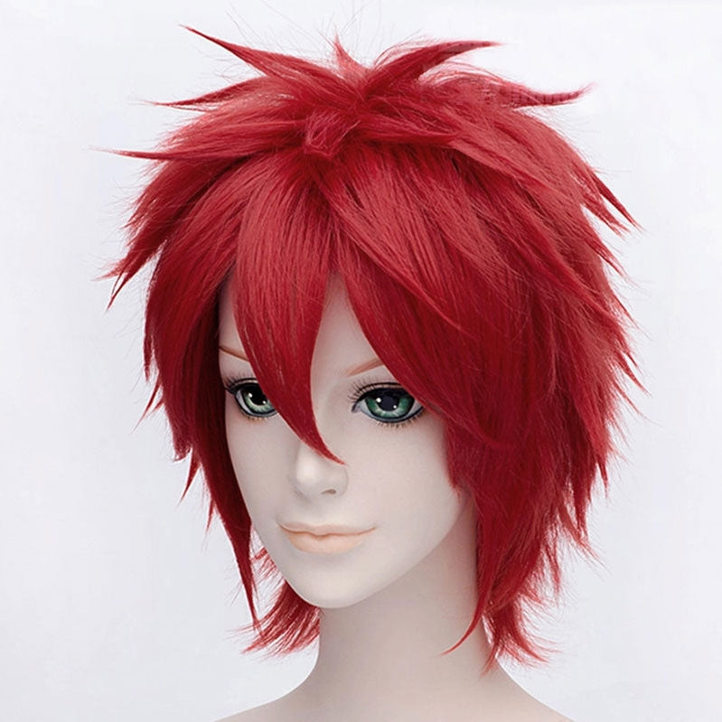 Anime Naruto Gaara Short Red Cosplay Wigs - Cosplay Clans