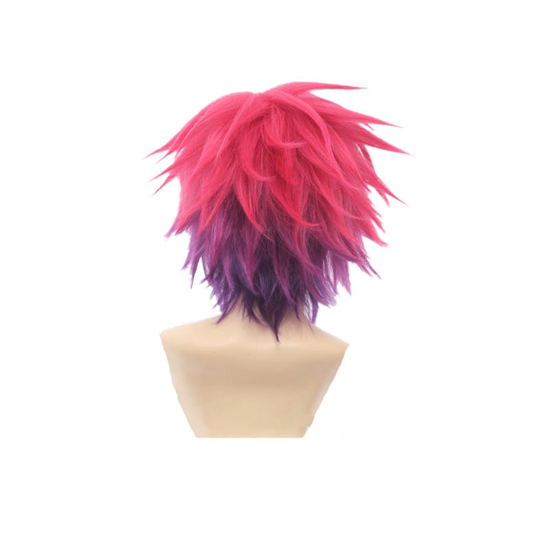 Anime No Game No Life Sora Short Red Fade Purple Cosplay Wigs - Cosplay Clans