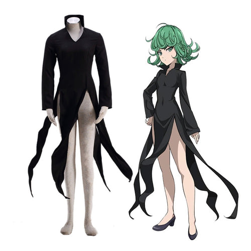Anime One Punch Man Terrible Tornado Dress Cosplay Costume - Cosplay Clans