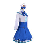 Anime Nekopara Catgirl Vanilla Blue Dress Outfits Cosplay Costume - Cosplay Clans