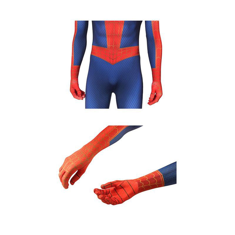 Movie Spider-Man: Into the Spider-Verse Peter Parker Spiderman Jumpsuit Cosplay Costume with Free Headgear - Cosplay Clans