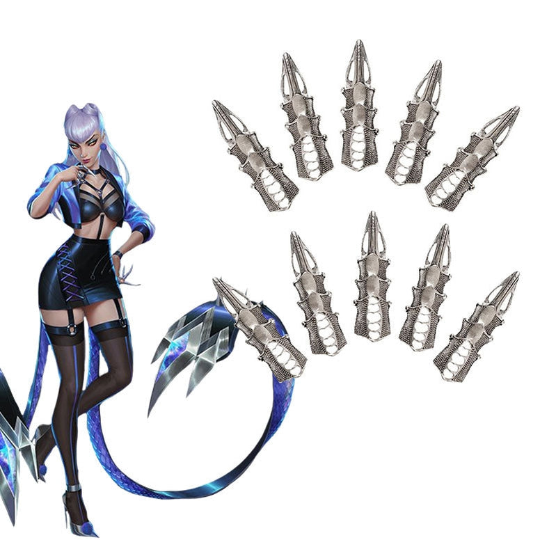 Game LOL KDA ALL OUT Evelynn Cosplay Finger props - Cosplay Clans