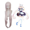 Game Nekopara Vanilla Long Straight Light Pink Cosplay Wigs - Cosplay Clans