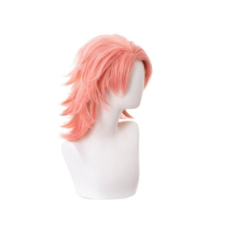 Anime Demon Slayer Kimetsu no Yaiba Sabito Orange Pink Cosplay Wigs - Cosplay Clans