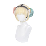 Movie Birds of Prey Harley Quinn Short Mixed blonde Cosplay Wigs - Cosplay Clans