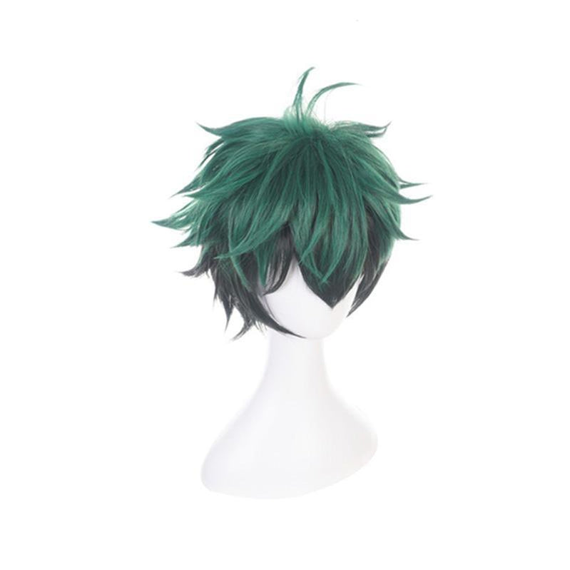 Anime My Hero Academia Izuku Midoriya Deku Cosplay Wigs Short Green Fade Black Wig - Cosplay Clans