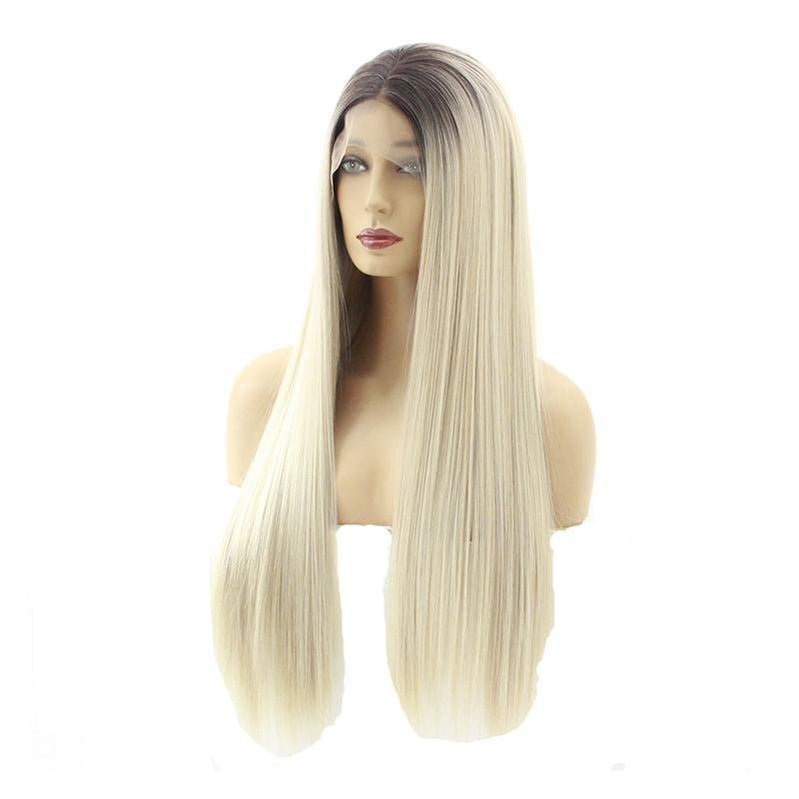 Multi-size Lace Front Wigs Long Straight Black Fade Blonde Cosplay Wigs - Cosplay Clans