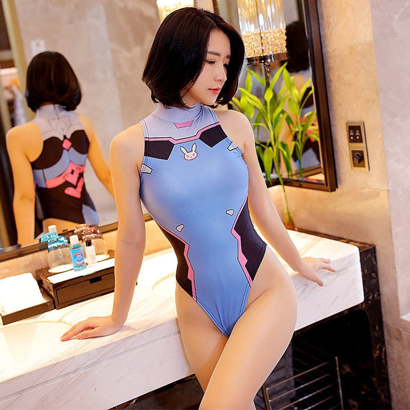 Game Overwatch D.Va Hana Song Swimsuit Leotard Cosplay Costumes - Cosplay Clans