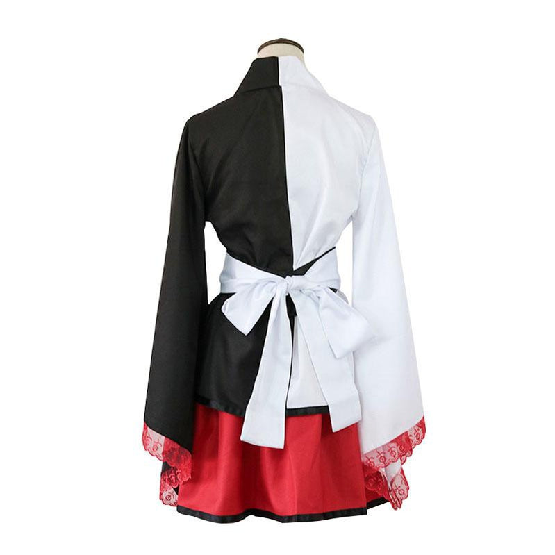 Danganronpa: Trigger Happy Havoc Monokuma Black and White Bear Woman Kimono Cosplay Costumes - Cosplay Clans