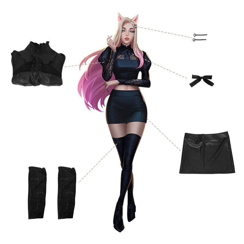 LOL KDA The Baddest Nine Tailed Fox Ahri Cosplay Costumes - Cosplay Clans