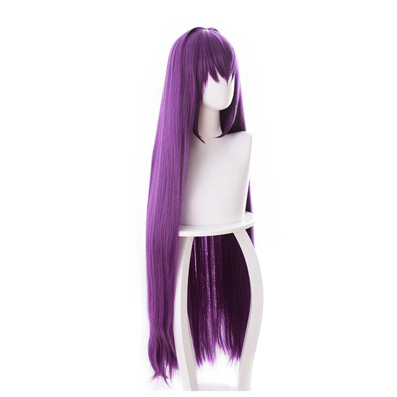 Fate Grand Order Lancer Scathach 100cm Long Straight Purple Cosplay Wigs - Cosplay Clans