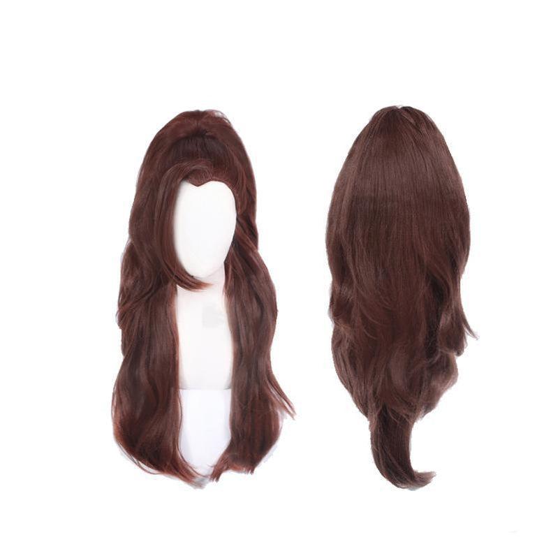 Game New Skin LOL True Damage Yasuo Cosplay Wig Men Brown Long Hairs - Cosplay Clans