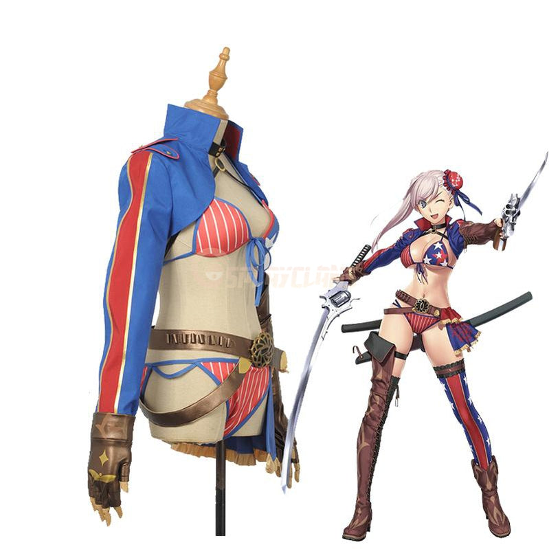 Fate Grand Order FGO Miyamoto Musashi Sexy Swimsuit Cosplay Costumes - Cosplay Clans