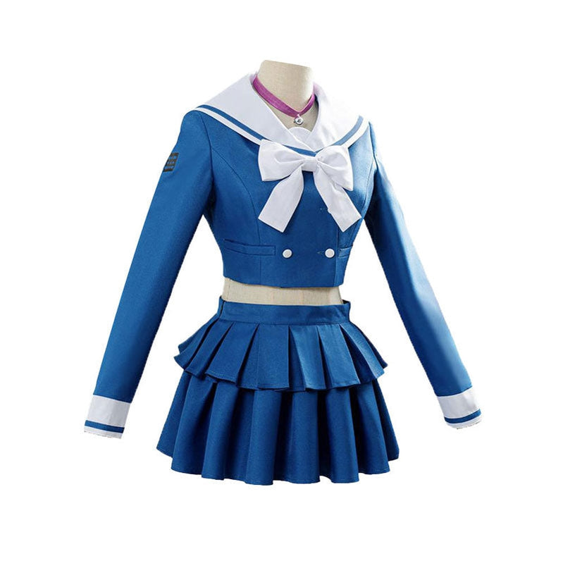Danganronpa V3 Killing Harmony Harukawa Maki Blue School Uniform Halloween Cosplay Costume - Cosplay Clans