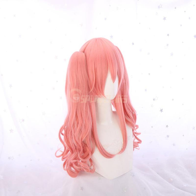Anime FGO Fate/Grand Order Tamamo no Mae Pink Curly Ponytail Cosplay Wigs - Cosplay Clans