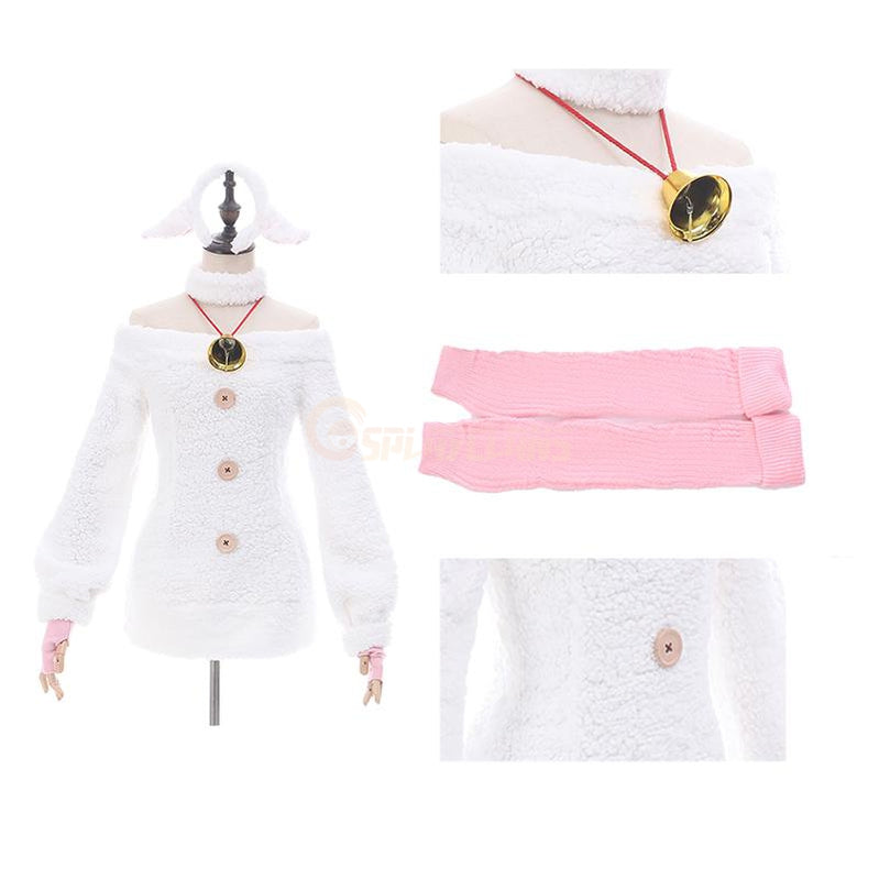 Anime Re:Zero Starting Life in Another World Rem Sleep Dress Cosplay Costume - Cosplay Clans