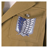 Anime Attack on Titan Levi Ackerman Survey Corps Coat Cosplay Costume - Cosplay Clans