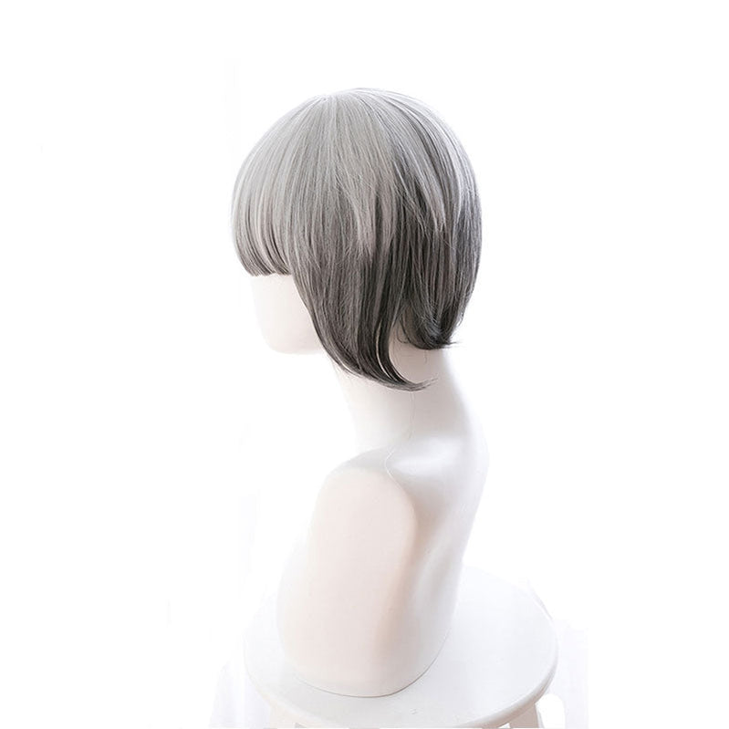 Game Identity V Mechanic Tracy Reznik Silver Gray Gradient Short Cosplay Wigs - Cosplay Clans