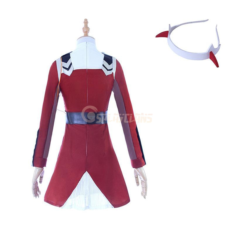 Anime DARLING in the FRANXX 02 Cosplay Zero Two Cosplay Costumes Women Costume Full Sets - Cosplay Clans