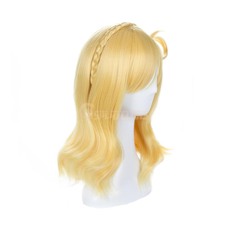 Anime LoveLive!Sunshine!! Ohara Mari Long Blond Cosplay Wigs - Cosplay Clans
